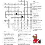 Free Printable Cards: Free Printable Crossword Puzzles | Christmas   Printable Crossword Puzzles About Cars
