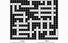 Printable Crossword Puzzles English Learners