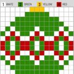Free Printable Christmas Pixel Puzzles Activity For Kids   Printable Pixel Puzzles