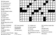 Printable Crossword Puzzles With Pictures