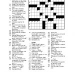 Free Printable Crossword Puzzles For Adults | Puzzles Word Searches   Printable Crossword Newspaper