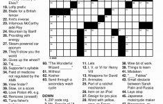 Printable Crossword Puzzles Beginners