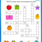 Free Printable Crosswords With Top 10 Benefits For Our Kids   Crossword Puzzles For Kindergarten Free Printable