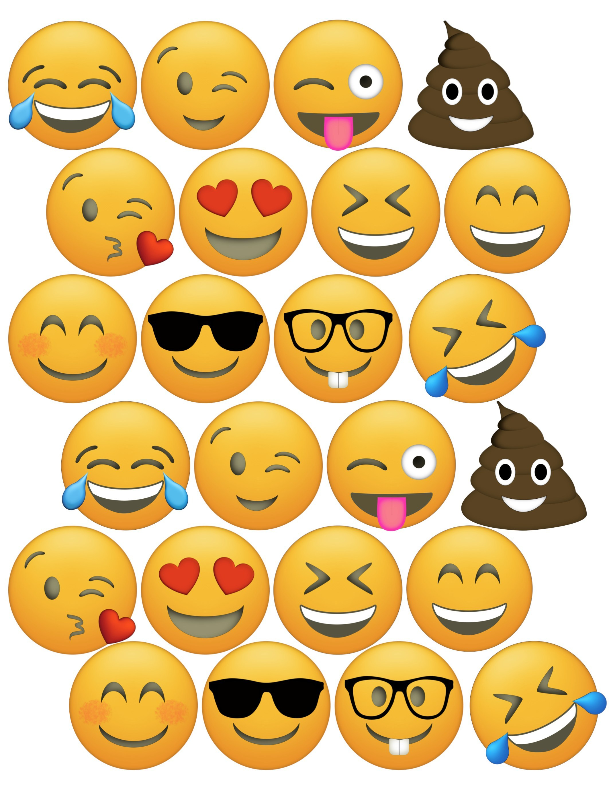 Free Printable Emoji Faces – Orek - Printable Emoji Puzzles