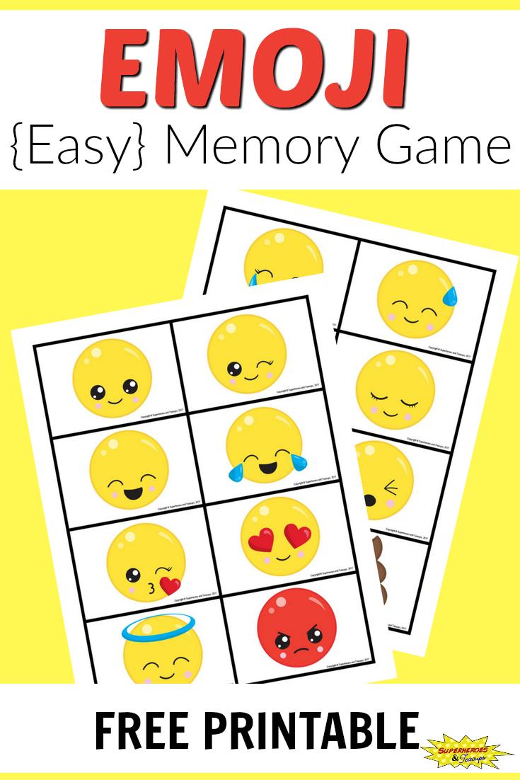 Free Printable Emoji Memory Game For Kids | After School Activities - Printable Emoji Puzzles