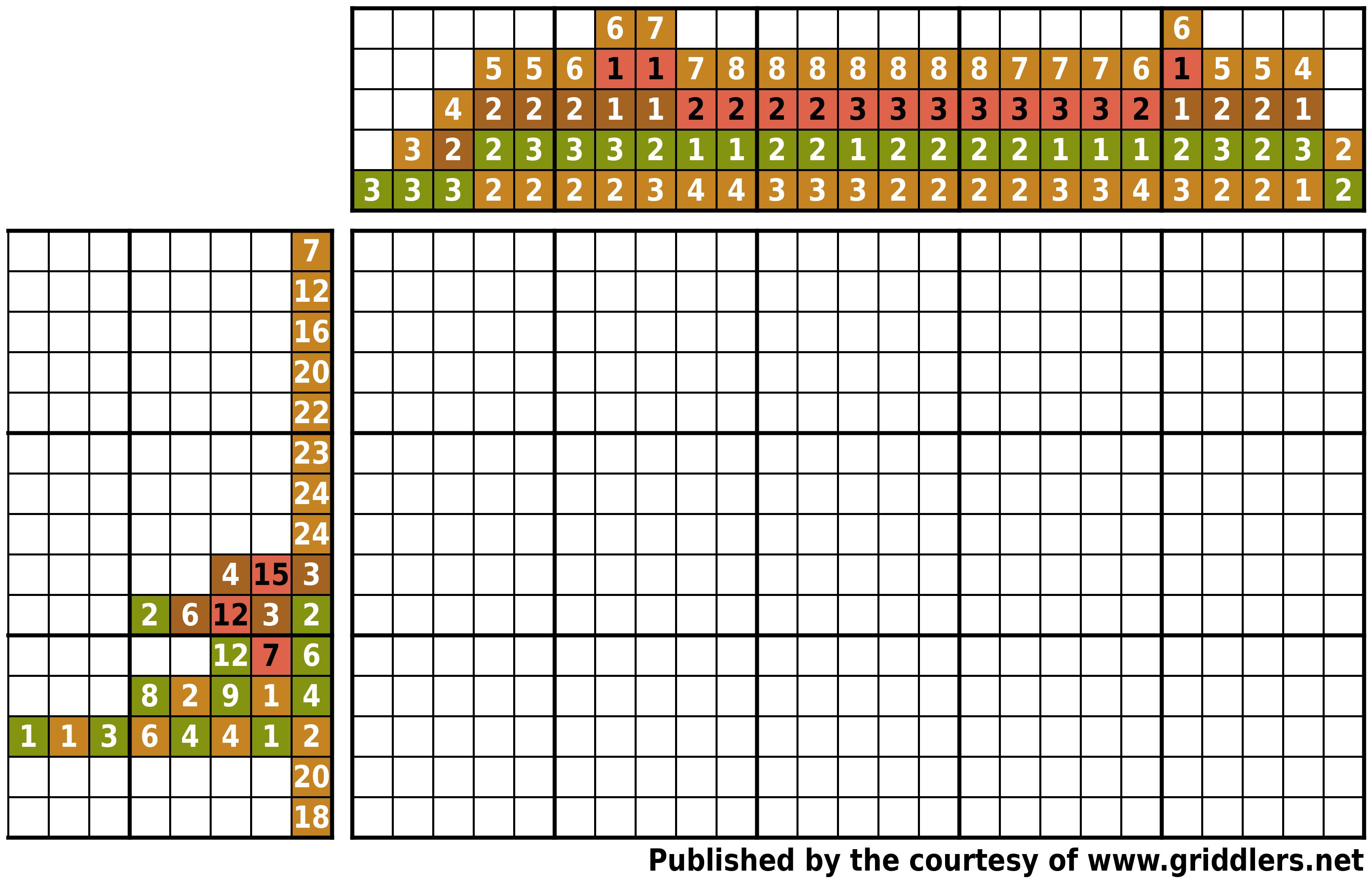 Free Printable Griddlers - Griddlers - Printable Griddlers Puzzles