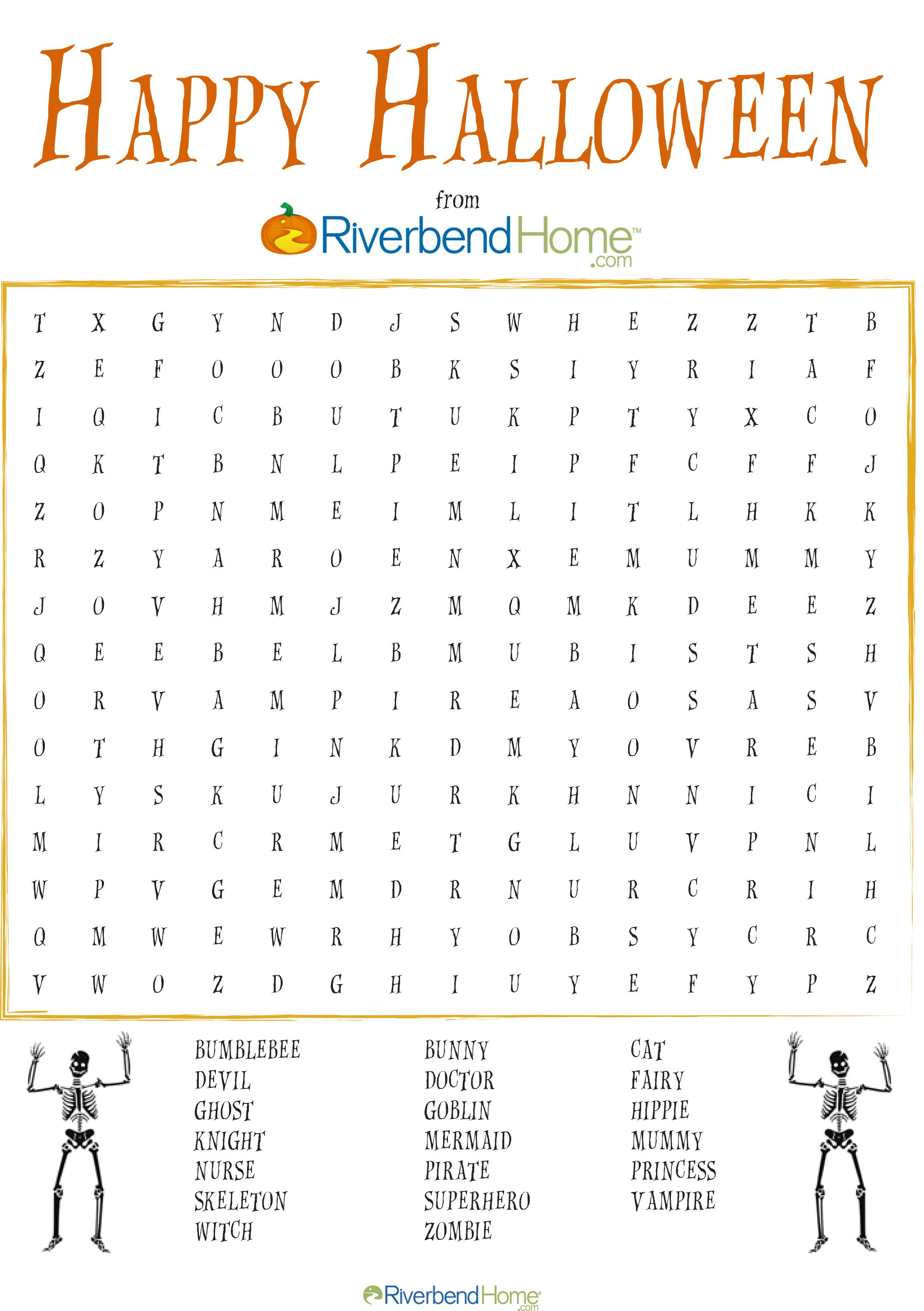 Free Printable Halloween Word Search Puzzle | Halloween | Halloween - Printable Halloween Puzzle