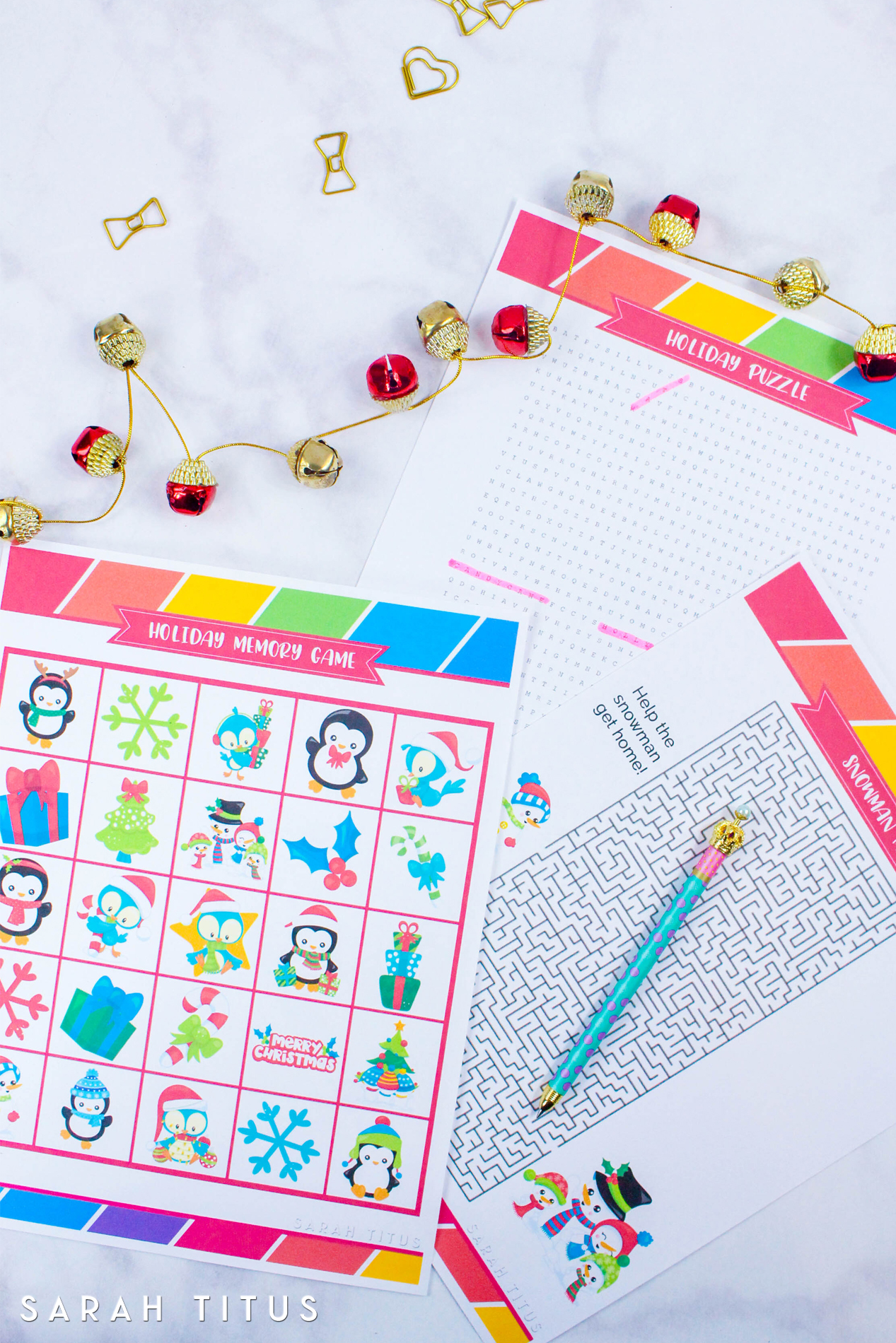 Free Printable Holiday Games That You Will Love - Sarah Titus - Printable Holiday Puzzle