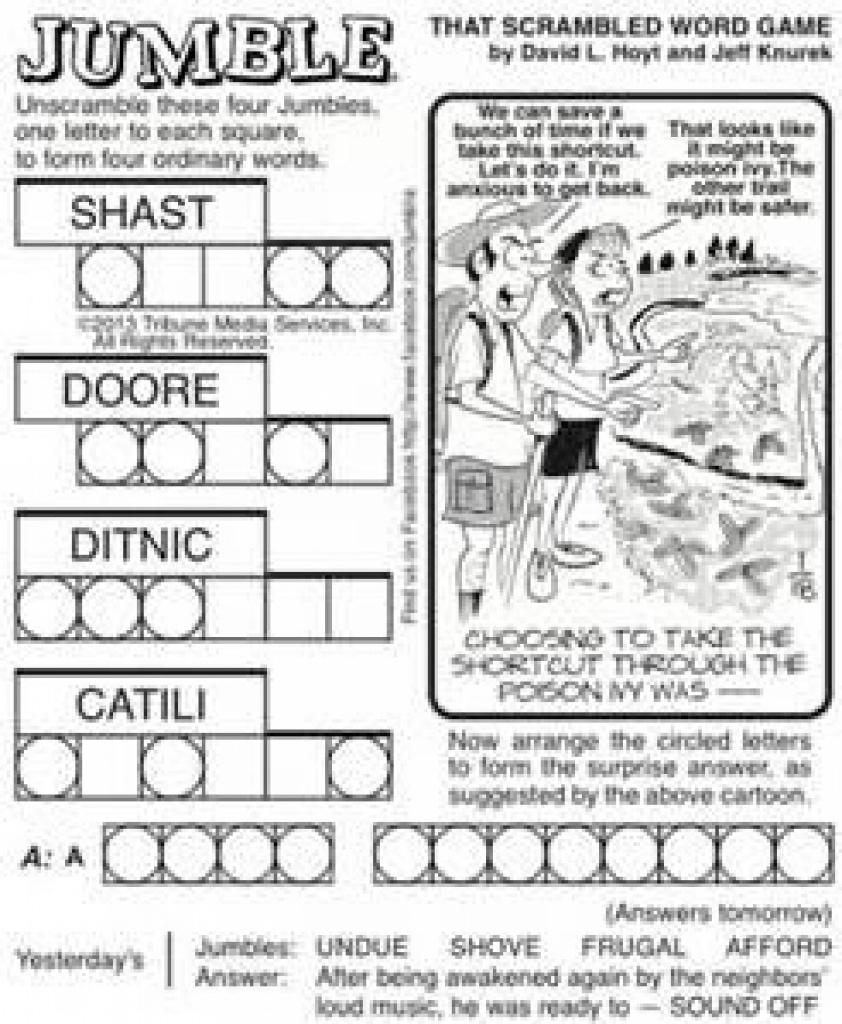 Free Printable Jumble Puzzles - Bing Images   Jumble Puzzles - Printable Jumble Puzzles For Adults