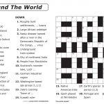 Free Printable Large Print Crossword Puzzles | M3U8   Printable Crossword Letters