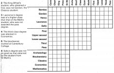 Printable Logic Puzzle Grid Blank