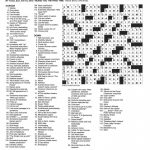 Free Printable Ny Times Crossword Puzzles | Free Printables   Printable Sunday Crossword 2018