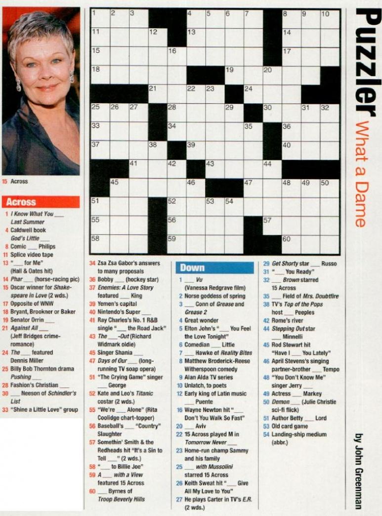 Free Printable People Magazine Crossword - Printable People Magazine Crossword Puzzles
