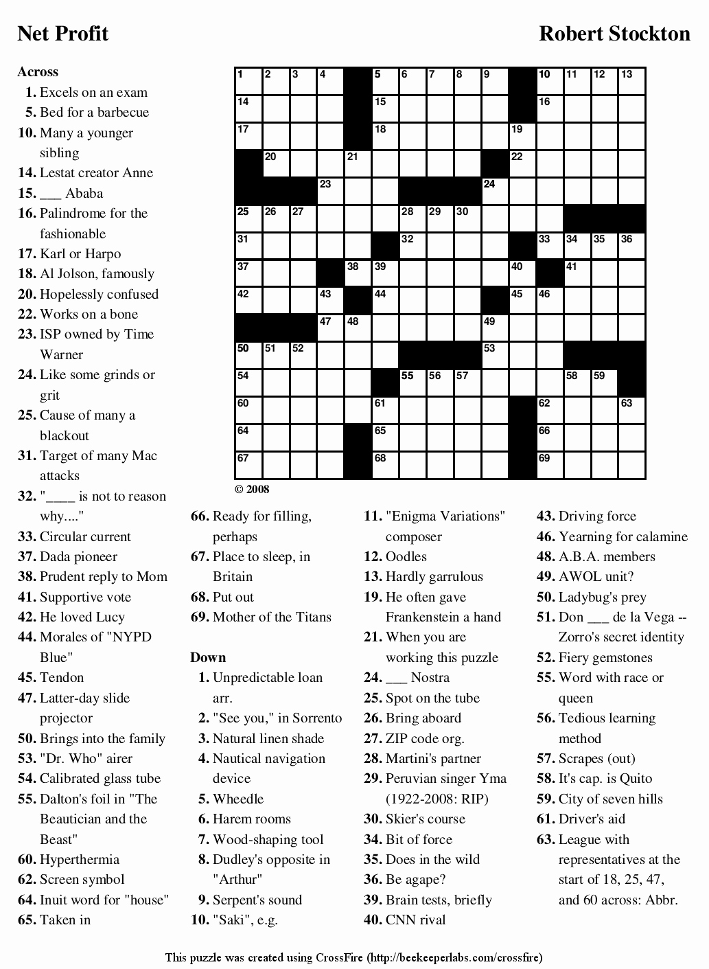 Free Printable Puzzles Or 6 Best Of Printable Crossword Puzzles With - Printable Puzzles With Solutions