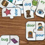 Free Printable Rhyming Puzzles | I ♥ Kindergarten | Pinterest   Printable Puzzles Kindergarten