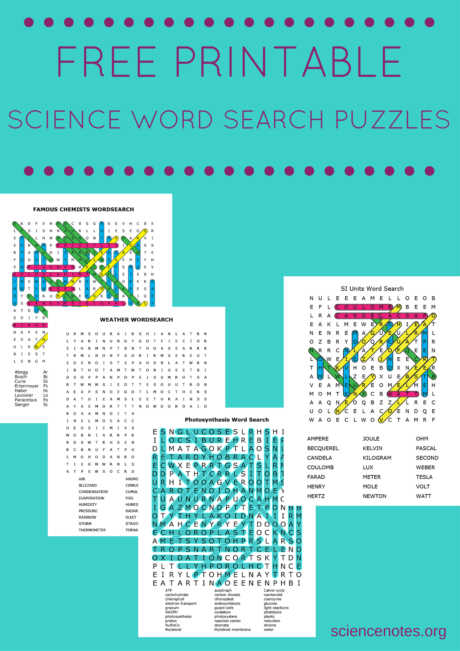 Free Printable Science Word Search Puzzles - Printable Science Puzzle