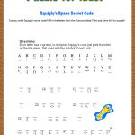 Free Printable Secret Code Word Puzzle For Kids. This Puzzle Has A   Printable Kid Puzzles Free