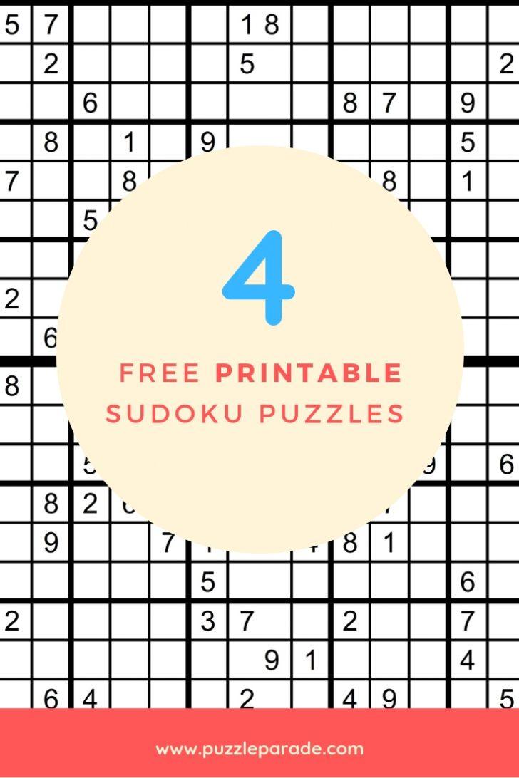 Free Printable Sudoku Puzzles Pdf | Free Printables - Printable Sudoku Puzzles Pdf
