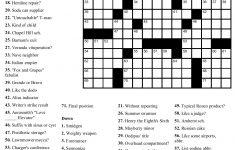 Free Printable Sunday Crossword Puzzles | Free Printables – Entertainment Crossword Puzzles Printable