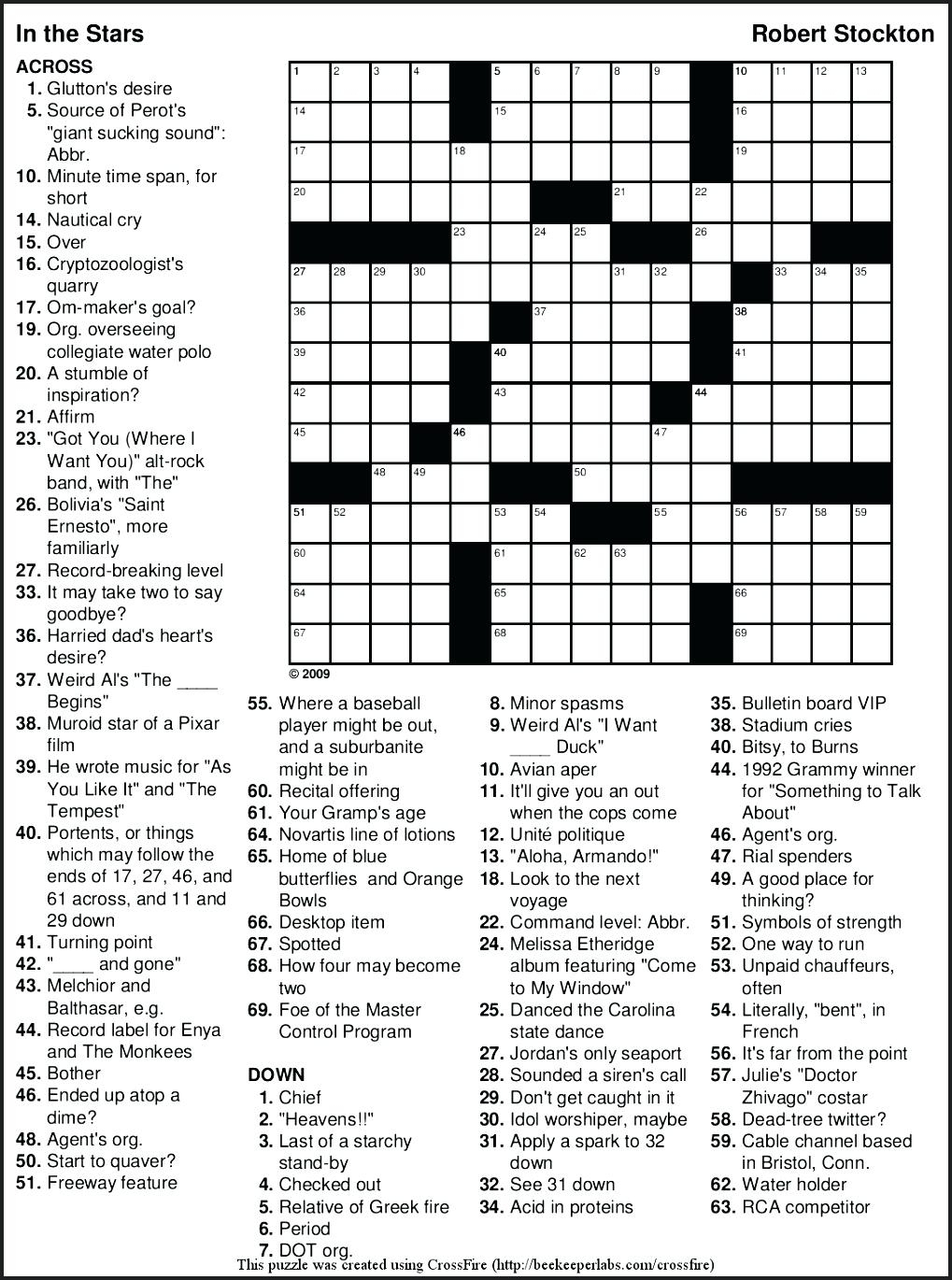 Free Printable Themed Crossword Puzzles – Myheartbeats.club - Printable Crossword Puzzle Nov 2018