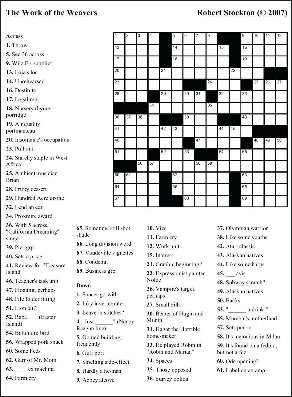 Printable Crossword Themed   Printable Crossword Puzzles