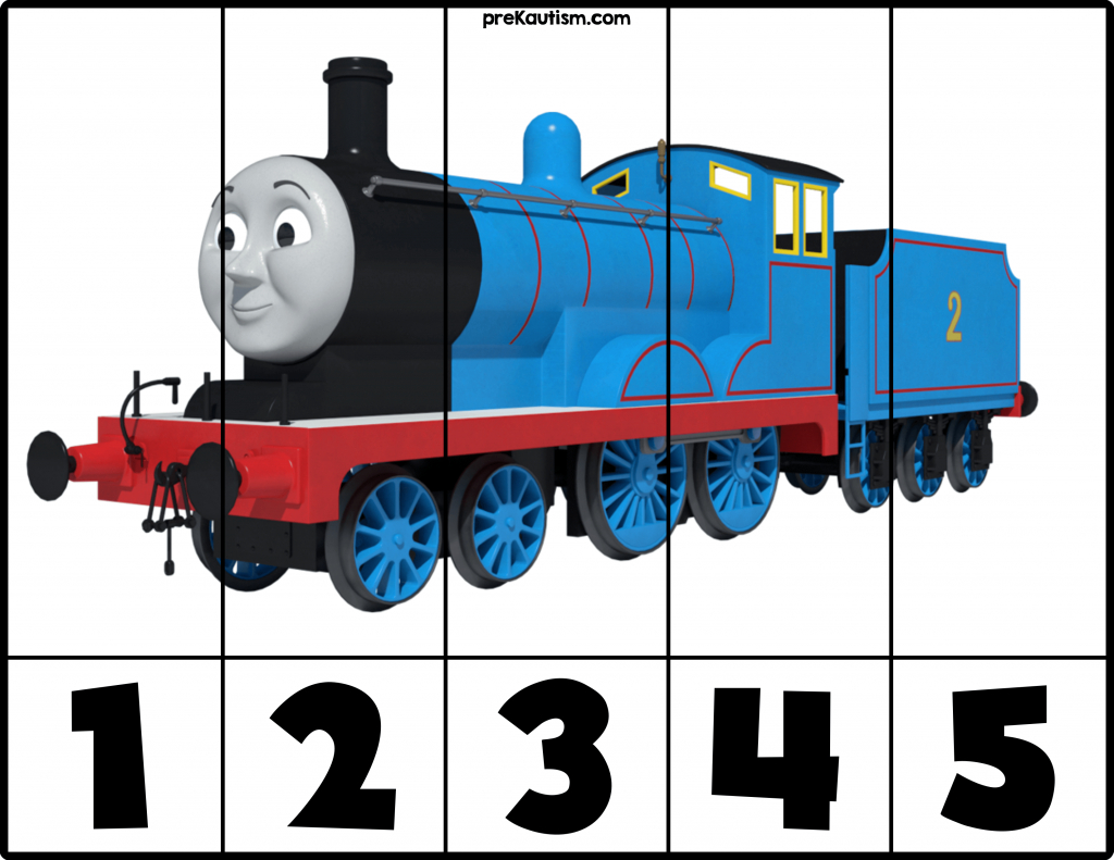 Free! Printable Thomas & Friends Puzzles   Autism Activities For - Printable Train Puzzle