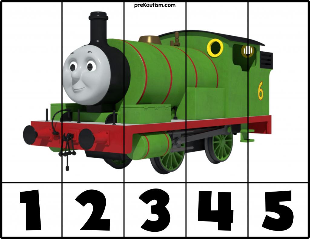 Free! Printable Thomas & Friends Puzzles   Prekautism   Autism - Printable Train Puzzle