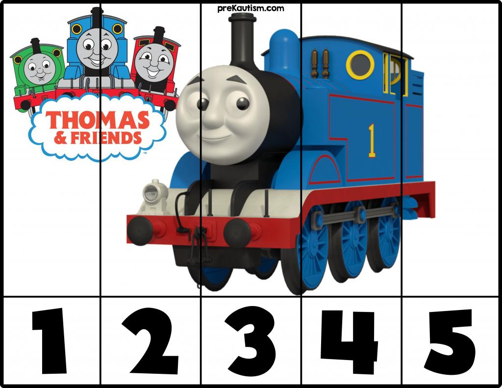 Free! Printable Thomas & Friends Puzzles   Prekautism   Craft - Printable Train Puzzle