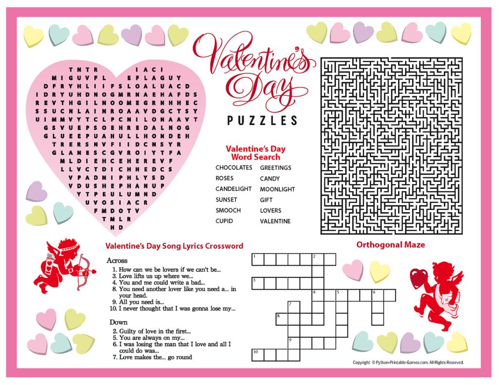Free Printable Valentine's Day Puzzles | School Stuff | Valentines - Free Printable Valentine Puzzle Games