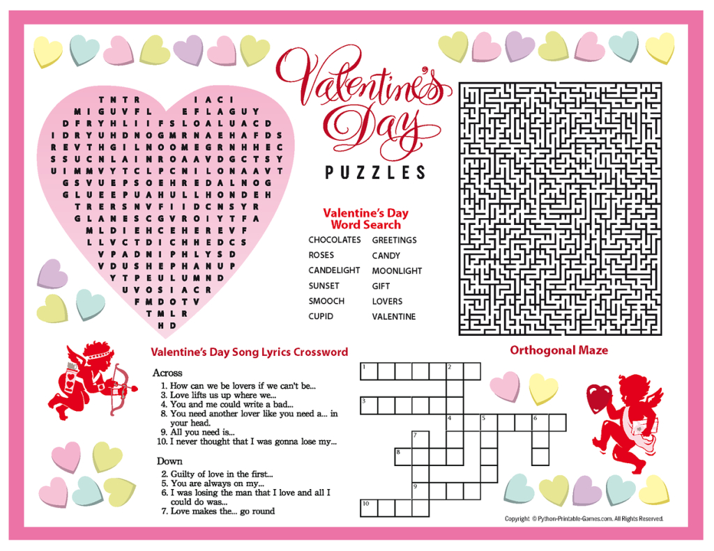 Free Printable Valentine's Day Puzzles | School Stuff | Valentines - Printable Heart Puzzles
