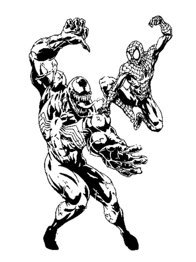 Free Printable Venom Coloring Pages For Kids | Comic Book Coloring - Free Printable Venom Puzzles