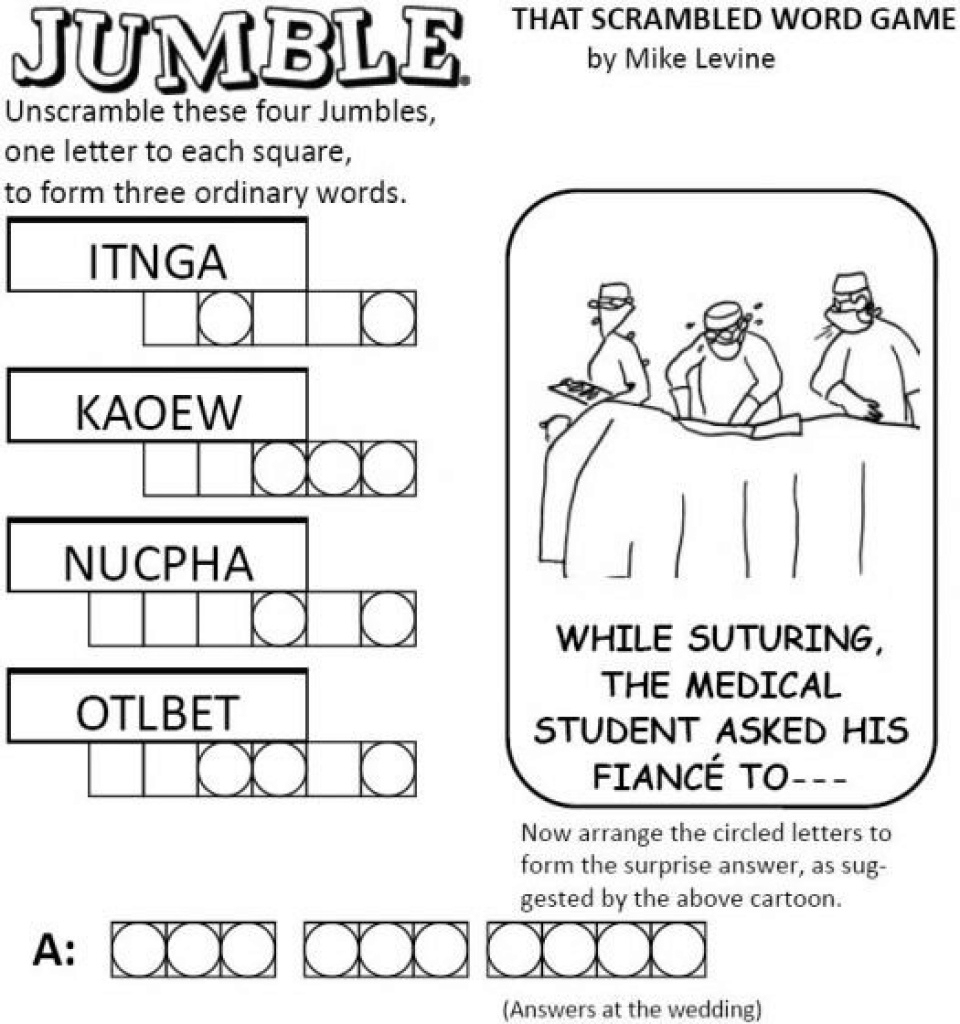 Free Printable Word Jumble Puzzles For Adults Printable Word Jumble - Printable Jumble Puzzle