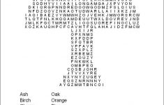 Printable Word Search Puzzle Difficult