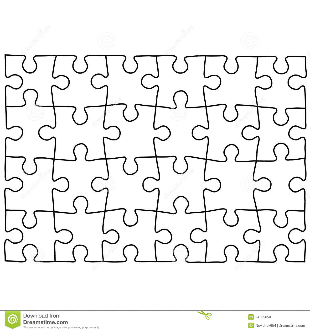 Free Puzzle Template, Download Free Clip Art, Free Clip Art On - Printable Jigsaw Puzzle Template Generator