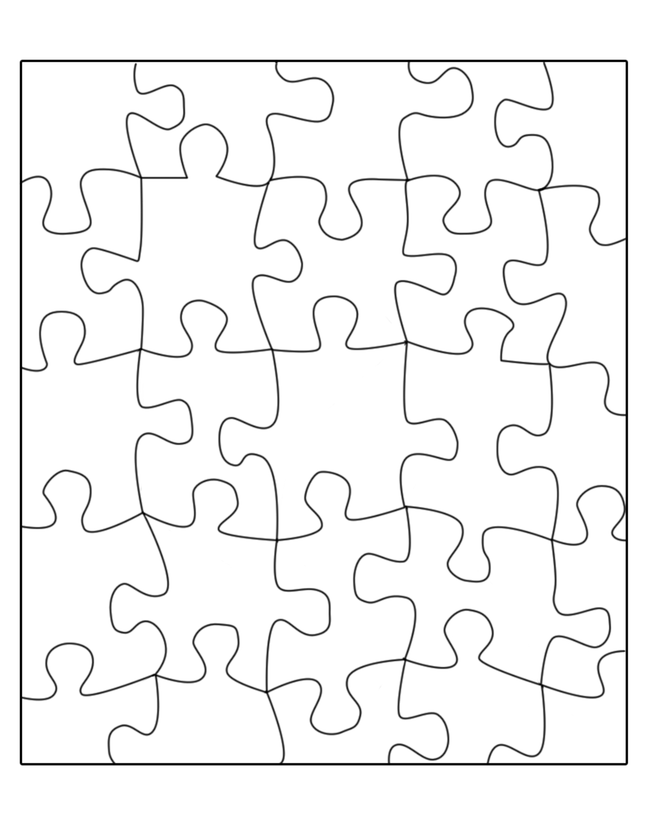 Free Puzzle Template, Download Free Clip Art, Free Clip Art On - Printable Puzzle Blank