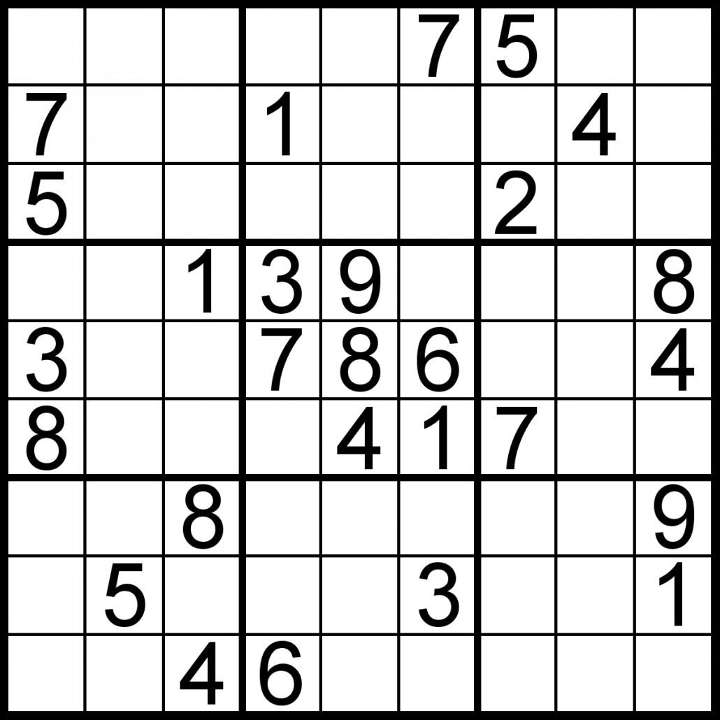 Free Sudoku For Your Local Publications! – Sudoku Of The Day - Printable Sudoku Puzzle Easy
