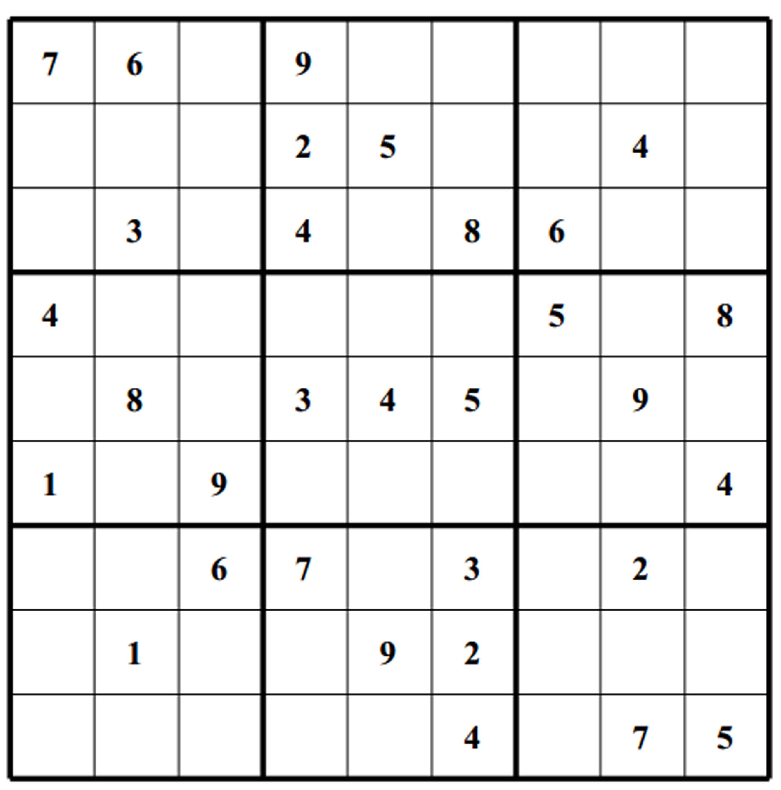 Free Sudoku Puzzles   Enjoy Daily Free Sudoku Puzzles From Walapie - 5 Star Sudoku Puzzles Printable