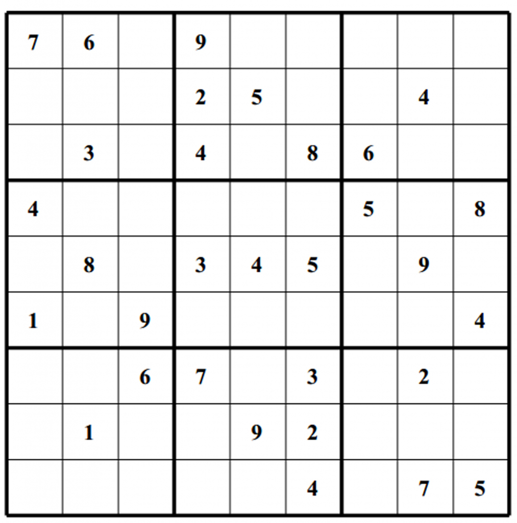 Free Sudoku Puzzles   Enjoy Daily Free Sudoku Puzzles From Walapie - Printable Sudoku Puzzles 1 Per Page