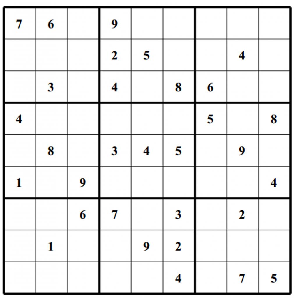 Free Sudoku Puzzles | Enjoy Daily Free Sudoku Puzzles From Walapie - Printable Sudoku Puzzles 4 Per Page