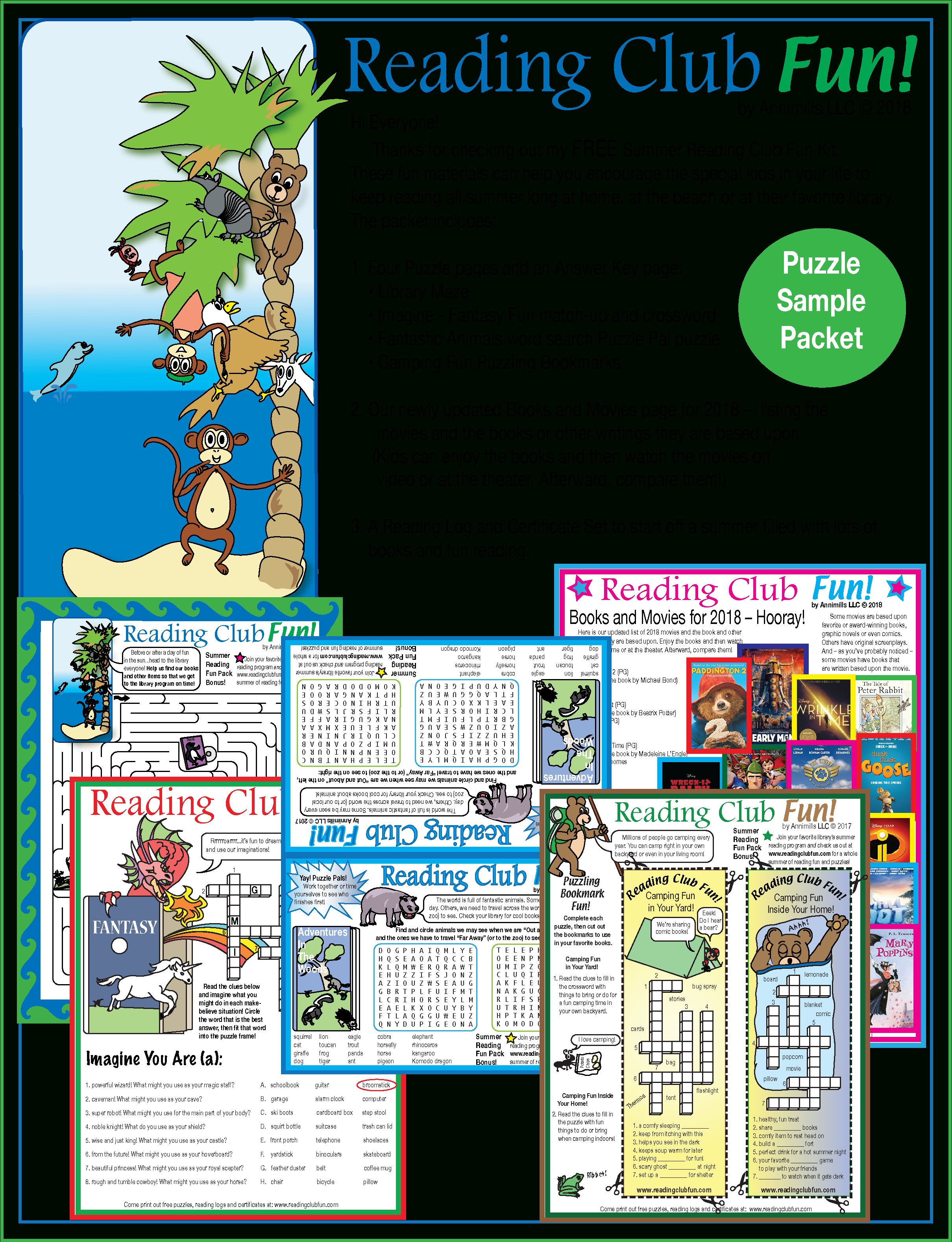 Free Summer Reading Fun – Puzzle Packet | Printable Puzzles For June - Printable Puzzle Packet