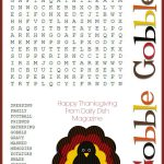 Free Thanksgiving Puzzles ~ Word Search And Maze Printable | Crafty   Difficult Thanksgiving Crossword Puzzles Printable