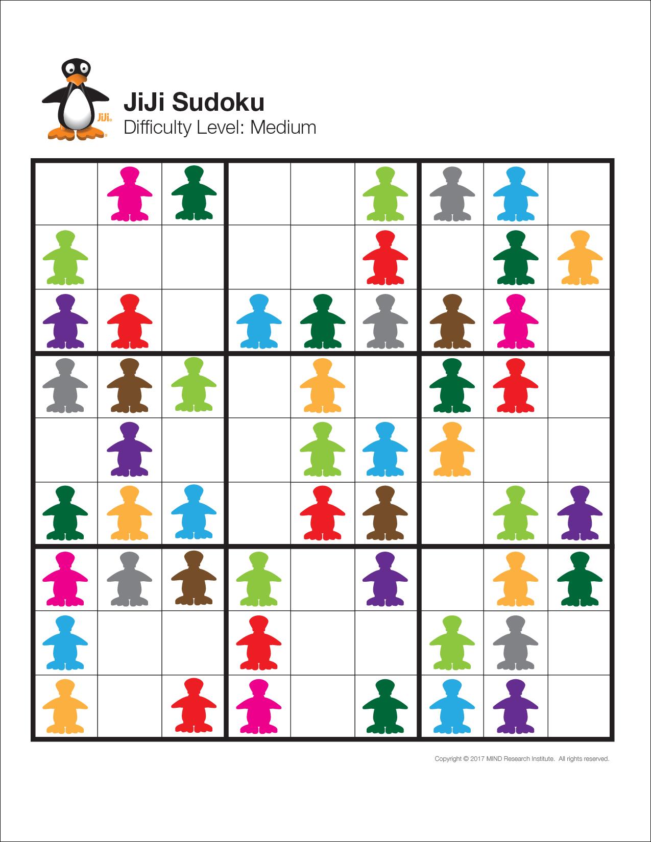 Free Visual Sudoku Puzzles - Easy, Medium And Challenge | Free Math - Free Printable Visual Puzzles