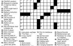 Medium Difficulty Printable Crossword Puzzles