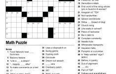 Crossword Puzzle Printable High School