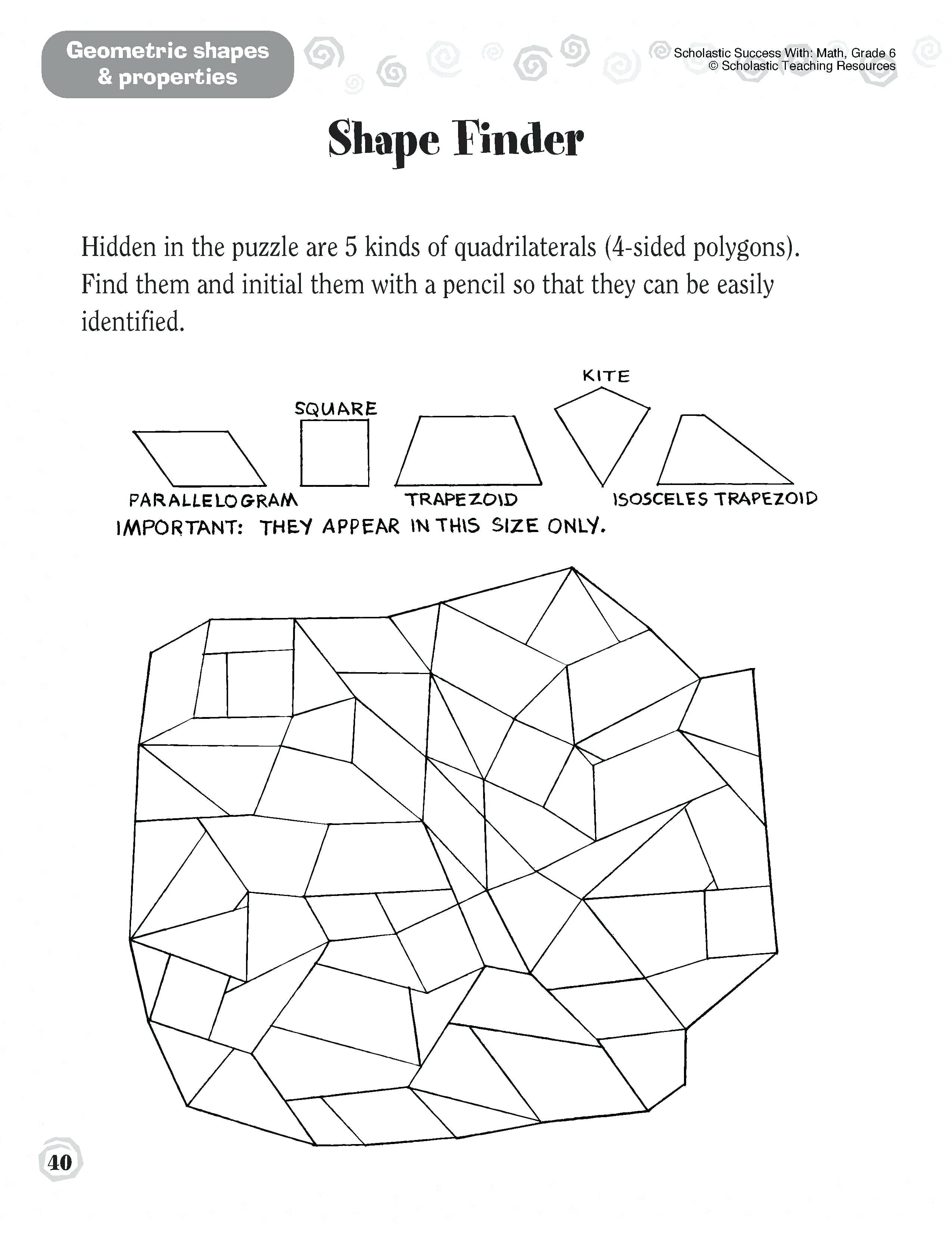 Geometry Puzzles Math – Upskill.club - Printable Geometry Puzzles High School