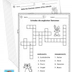 German/english Crossword Puzzles Tiere/animals | German Words   Printable German Crossword Puzzles