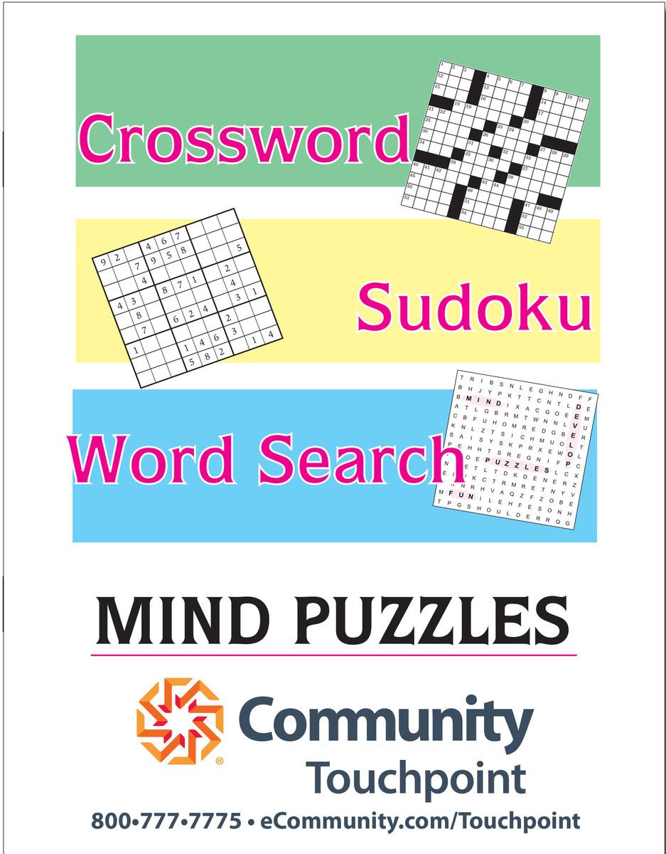 Giant Print Combination Puzzle Book - Cb2Lp | Logozoom - Printable Puzzle Booklet