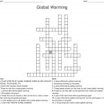 Global Warming Crossword   Wordmint   Global Warming Crossword Puzzle Printable