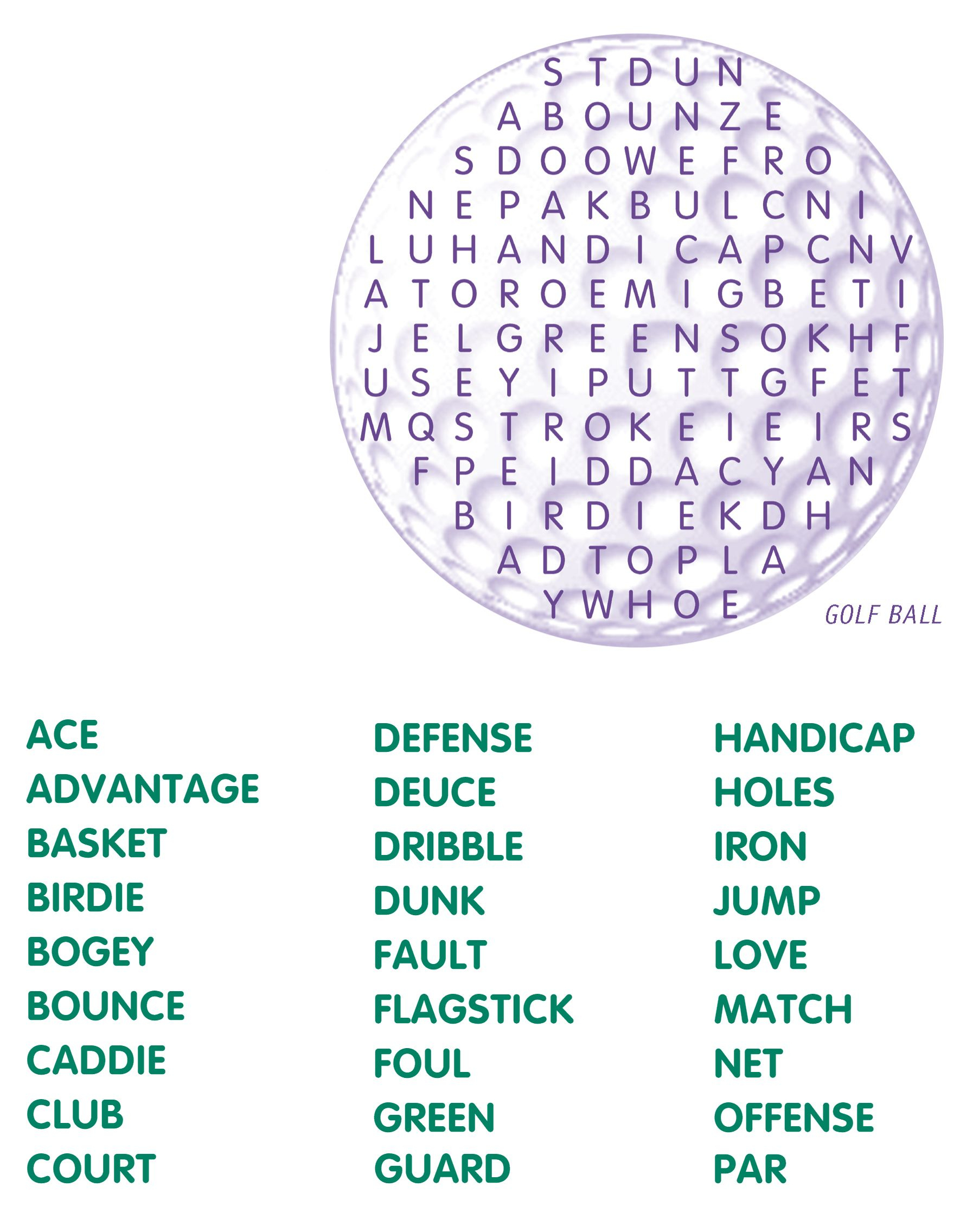 Golf Word Search | Golf Stuff | Word Search Puzzles, Kids Word - Printable Golf Crossword Puzzles