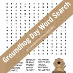 Groundhog Day Word Search Free Printable | Superheroes And Teacups   Groundhog Day Crossword Puzzles Printable